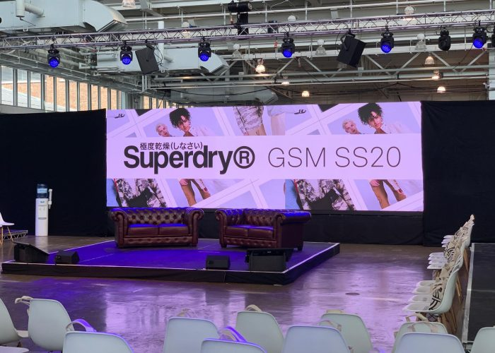 Superdry hybrid event staging