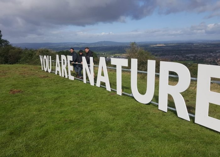 Of Earth and Sky - Letter Installation