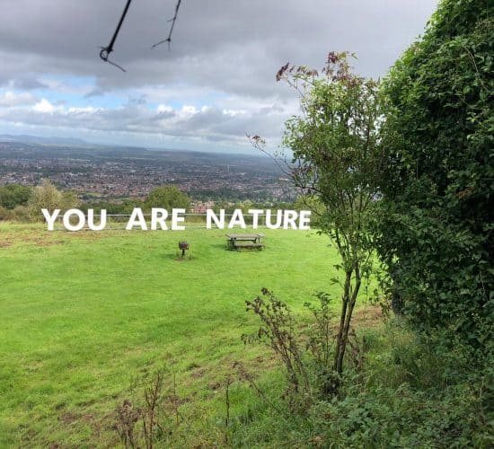 'You Are Nature' Large Letters on Robinswood Hill